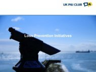 Loss Prevention Initiatives - UK P&I