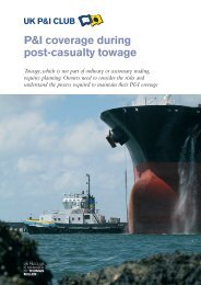 Towage guidance note - UK P&I