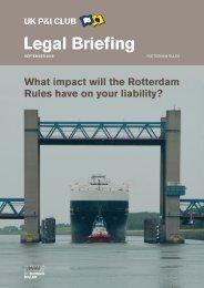Rotterdam Rules - UK P&I