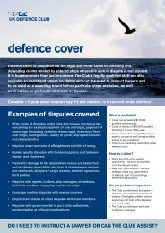UKDC 2011 Defence Cover