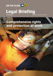 Comprehensive rights and protection at work - UK P&I