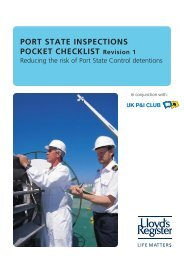 PORT STATE INSPECTIONS POCKET CHECKLIST Revision 1