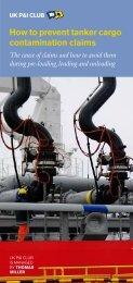 Tanker contam checklist - UK P&I
