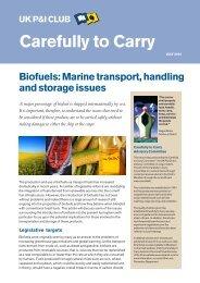 Biofuels - UK P&I