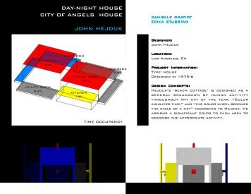Hejduk Day-Night House - Personal World Wide Web Pages