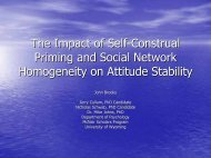 The Impact of Self-Construal Priming and Social Network ...