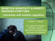 Interaction with emotion regulation