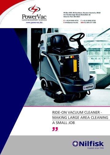 Nilfisk BRV900 Ride on Vacuum Brochure