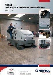 Nilfisk CR1200 sweeper scrubber brochure