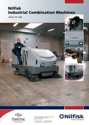 Nilfisk CR1200 sweeper scrubber brochure