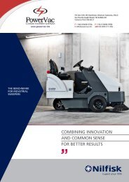 Nilfisk SR1601 Industrial Ride on Sweeper brochure