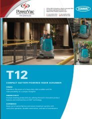 Tennant T12 Ride On Scrubber Brochure - PowerVac