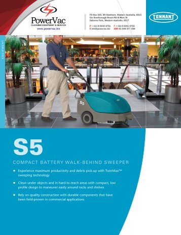Tennant S5 Sweeper Brochure