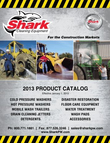 to see Shark's Construction Cleaning Equipment catalog.