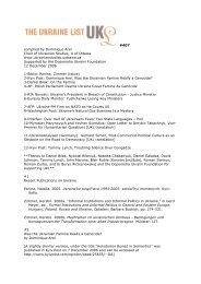 #407 compiled by Dominique Arel Chair of Ukrainian Studies, U of ...