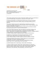 UKL444 - Chair of Ukrainian Studies