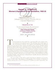 Agency vs. Victimhood: Women's Experience of the Holodomor ...