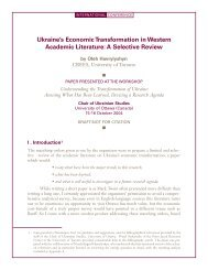 Paper - Chair of Ukrainian Studies - Université d'Ottawa