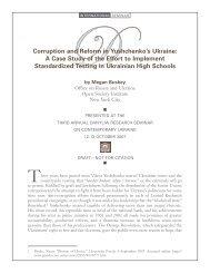 Corruption and Reform in Yushchenko's Ukraine - Chair of ...