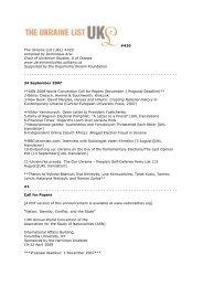 UKL420 - Chair of Ukrainian Studies