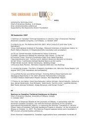 UKL421 - Chair of Ukrainian Studies