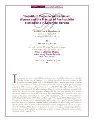 """Beautiful"" Medicine and Feminism - Chair of Ukrainian Studies"