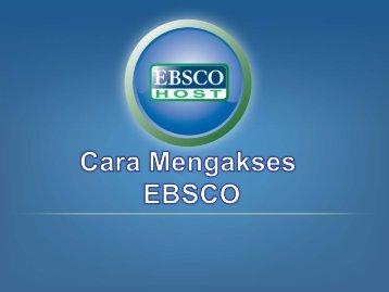 Cara mengakses EBSCO