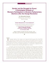 Gender and the Struggle for Power: A Sociological - Chair of ...