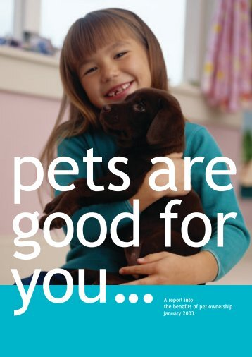 Pets Are Good for You