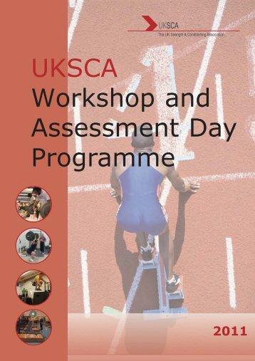 UKSCA Workshop and Assessment Day Programme