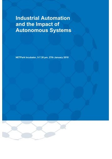 Industrial Automation and the Impact of Autonomous Systems - UKSPA
