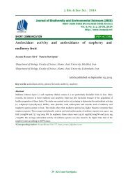 Antioxidant activity and antioxidants of raspberry and mulberry fruit