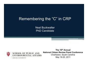 Remembering the C in CRP (pdf)