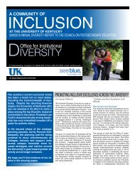 2009/2010 Annual Diversity Report to the - University of Kentucky