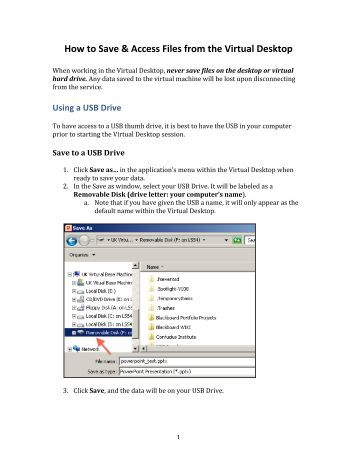 How to Save & Access Files from the Virtual Desktop