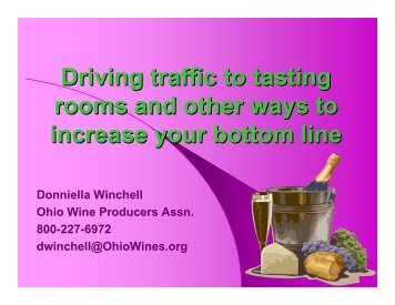 Driving traffic to tasting rooms and other ways to increase your ...
