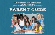 2010 Parent Guide 8.5x5 final.pmd - University of Kentucky