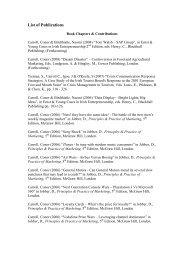 List of Publications - University of Limerick