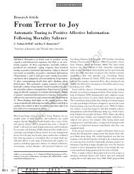 From Terror to Joy - University of Kentucky