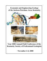 Economic and Engineering Geology of the Jackson Purchase Area ...