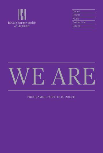Programme Portfolio 2013/14
