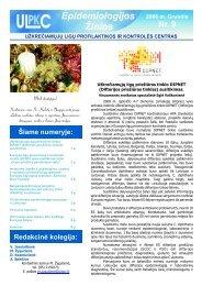 Epidemiologinės žinios 2008 gruodis - Užkrečiamųjų ligų ir AIDS ...
