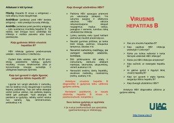 Kaip gydomas lėtinis virusinis B hepatitas