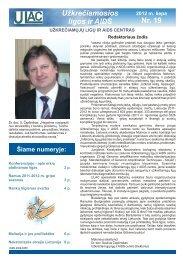 """""""Užkrečiamosios ligos ir AIDS"""" Nr. 19. 2012 m. liepa. - Užkrečiamųjų ..."""