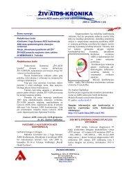 ŽIV/AIDS KRONIKA - Užkrečiamųjų ligų ir AIDS centras
