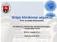 GRIPO INFEKCIJA Paskaita IV k. medicinos studentams