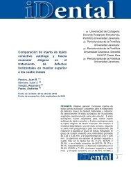 Comparación de injerto de tejido conectivo autólogo y fascia ... - Ulacit