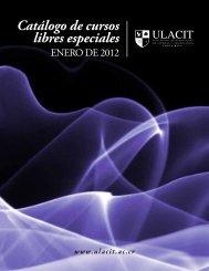 Catálogo de cursos libres especiales - Ulacit