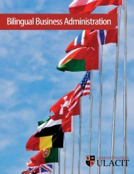 Bilingual Business Administration - Ulacit