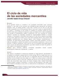 El ciclo de vida de las sociedades mercantiles - Ulacit